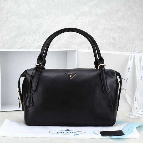 Prada bags 2014 Sale cheap Prada boston 2014 calf leather bag black