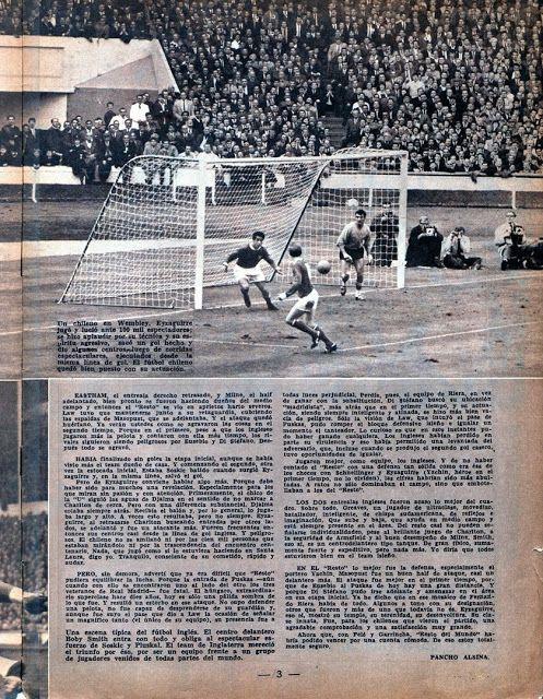 1963-64. FIFA Resto del Mundo frente a Inglaterra.
