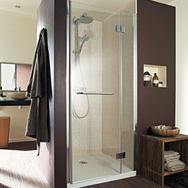 Porte de douche pivotante Vizion 120 cm