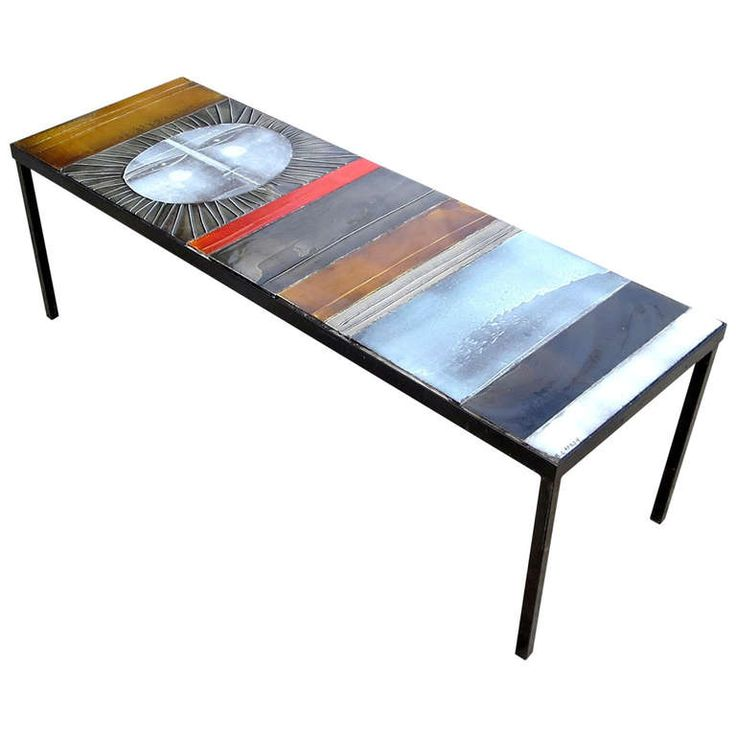 Glazed Tile Coffee Table by Roger Capron | From a unique collection of antique and modern coffee and cocktail tables at https://www.1stdibs.com/furniture/tables/coffee-tables-cocktail-tables/