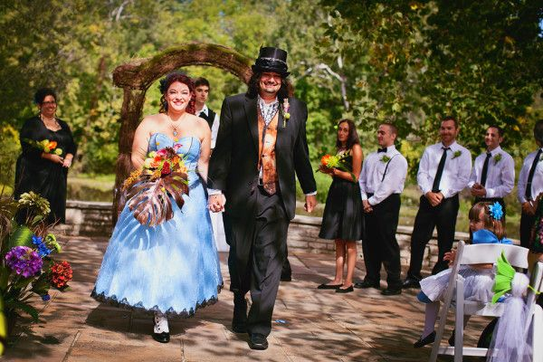 Curiouser and curiouser: it's an Alice in Wonderland wedding