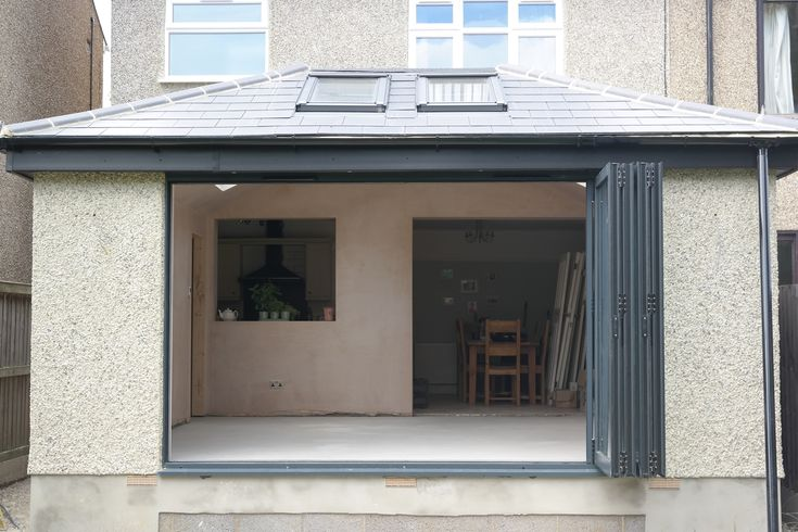 Open bi-fold doors floods the extension with light & 11 best Extension images on Pinterest | Bi fold doors Hothouse and ...