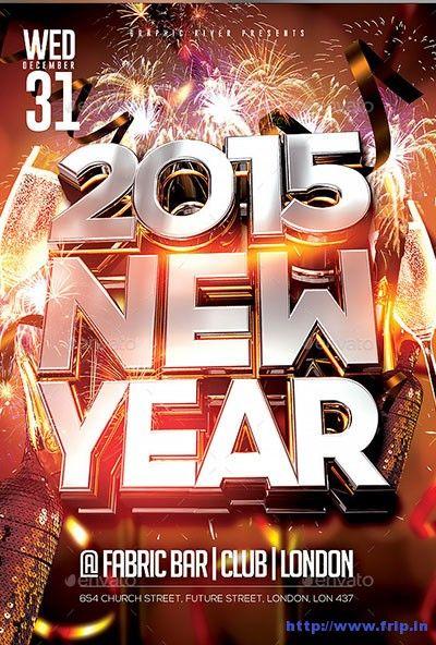 20 best inspiration menu images on Pinterest Flyer template - new year brochure template