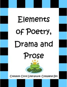 elements of poetry drama and prose for 3rd 5th grade common cores. Black Bedroom Furniture Sets. Home Design Ideas