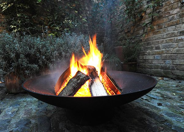 A magnificent cast-iron brazier with a simple design