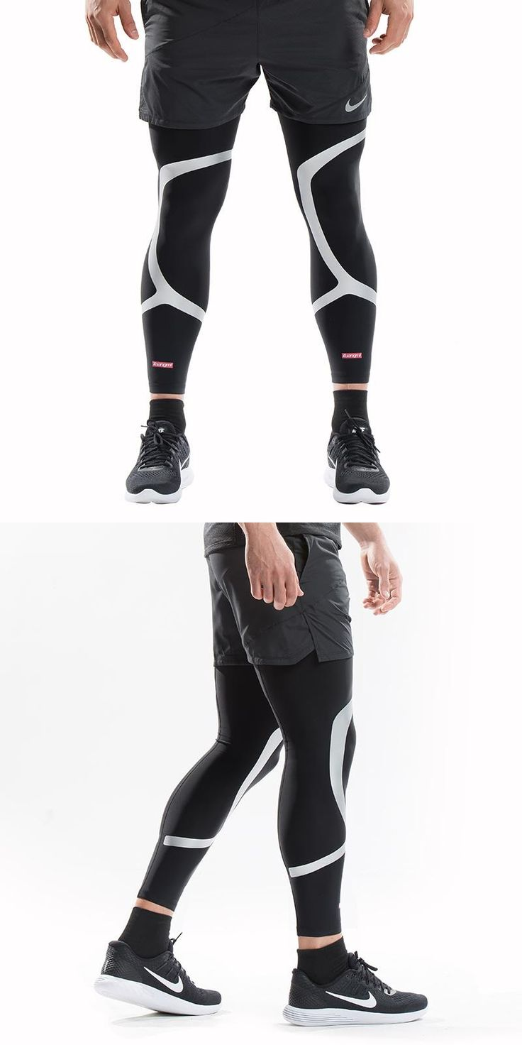 [Visit to Buy] 2 Pcs Kuangmi Leg Compression Sleeve Basketball Support Sports Knee Protector Socks Pads Shin Guard Football Leg Warmers Cycling #Advertisement