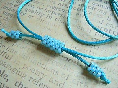 Jodie Marshall: Beaded Cord Tutorial or How to use a peyote tube as a closure on cord and shambala projects.  #Beading #Jewelry #Tutorials