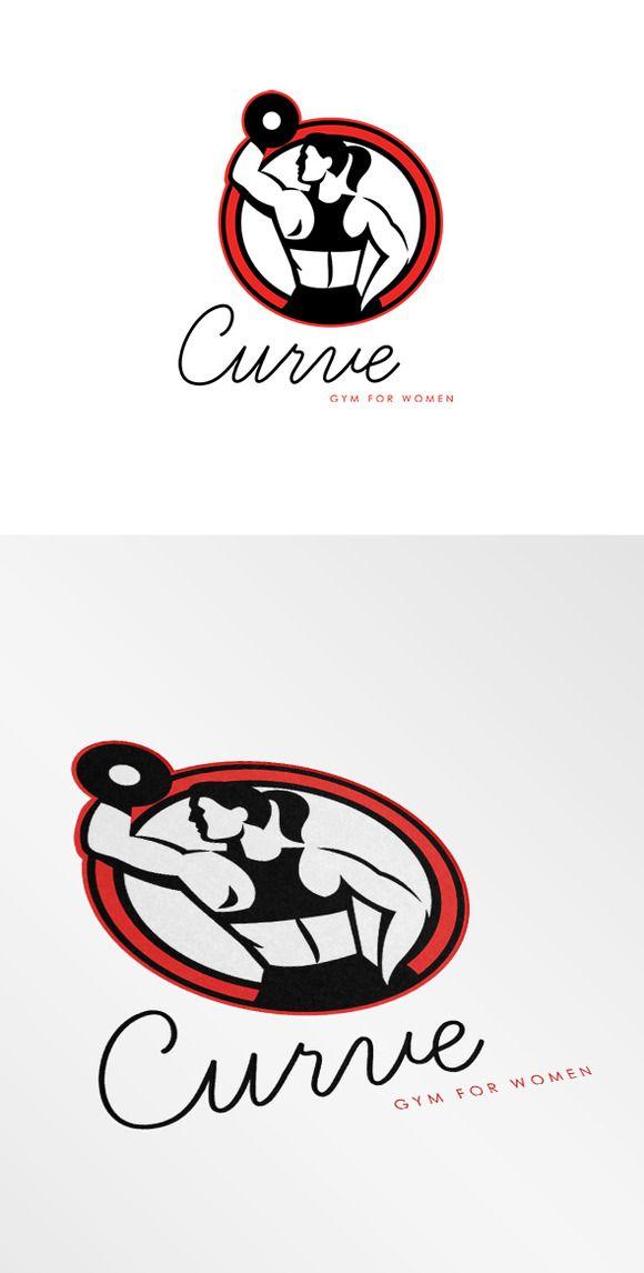 Curve Gym for Women Logo by patrimonio on @creativemarket