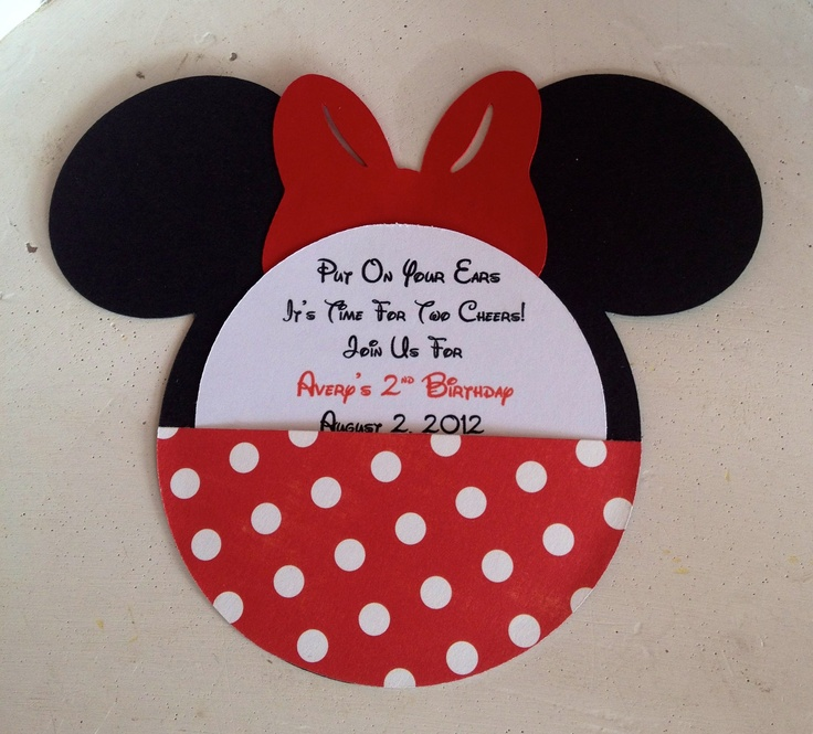 26 best zos 1st birthday images on pinterest minnie mouse party handmade custom red minnie mouse birthday invitations set of 10 solutioingenieria Choice Image