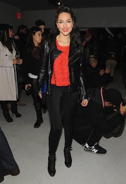 Barbara Mori at the Mercedes Benz Fashion Week Fall 2015 in NYC...