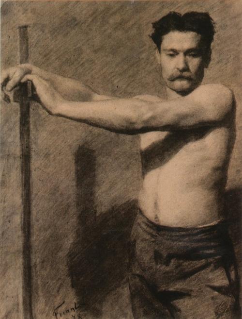 Émile Friant (French, 1863-1932), Académie d'homme debout, 1878.