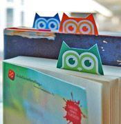 Printable owl bookmarks!