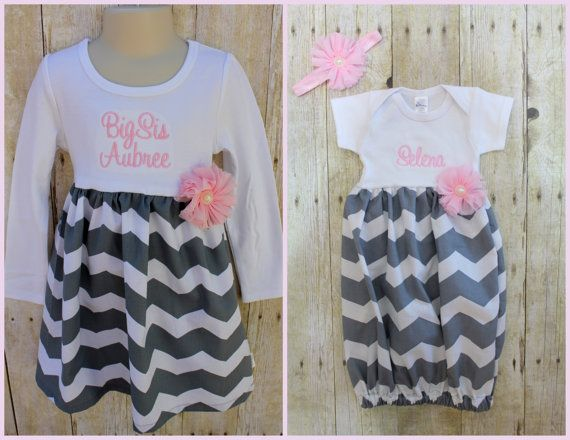 Big Sister Little Sister Dresses Baby by ThePinkRoseBoutique
