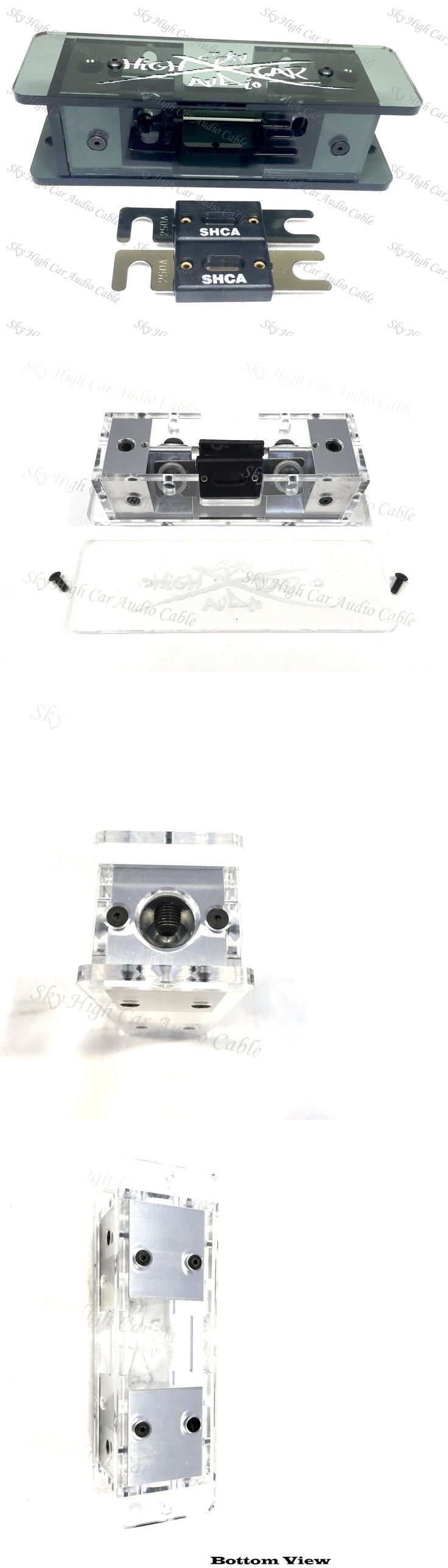 Connectors and Terminals: Sky High Smoked 2/0 Dual Anl Plexiglass Fuse Holder W/ (2) 250 Amp Anl Fuses BUY IT NOW ONLY: $59.99