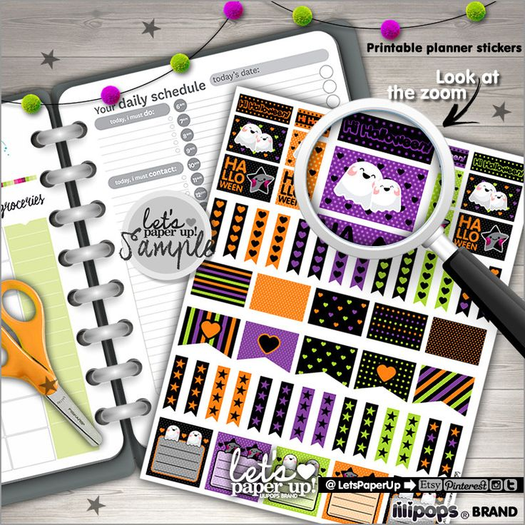 Halloween Stickers, Printable Stickers, Planner Stickers, Kawaii Stickers, Cute Stickers, Planner Accessories, Printable Planner, Stamps