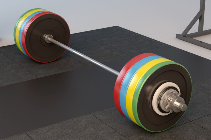 3D Olympic Weightlifting Barbell Set - 3D Model