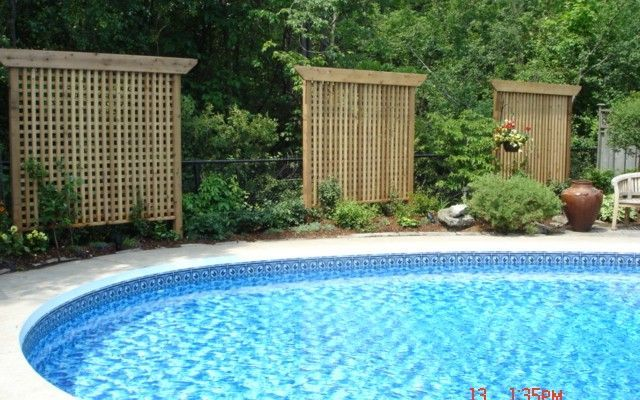 43 best hot tub ideas for outdoors images on pinterest for Privacy pool screen