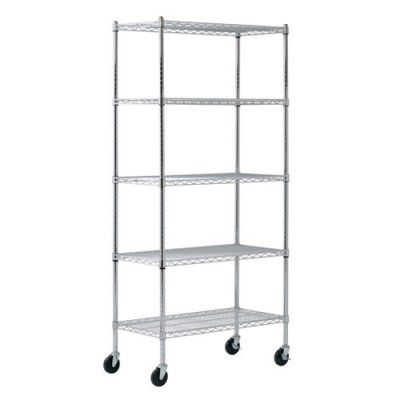 Sandusky Lee 36 x 18 x 72 in. Chrome Wire Commercial Shelving Unit - MWS361872, Durable
