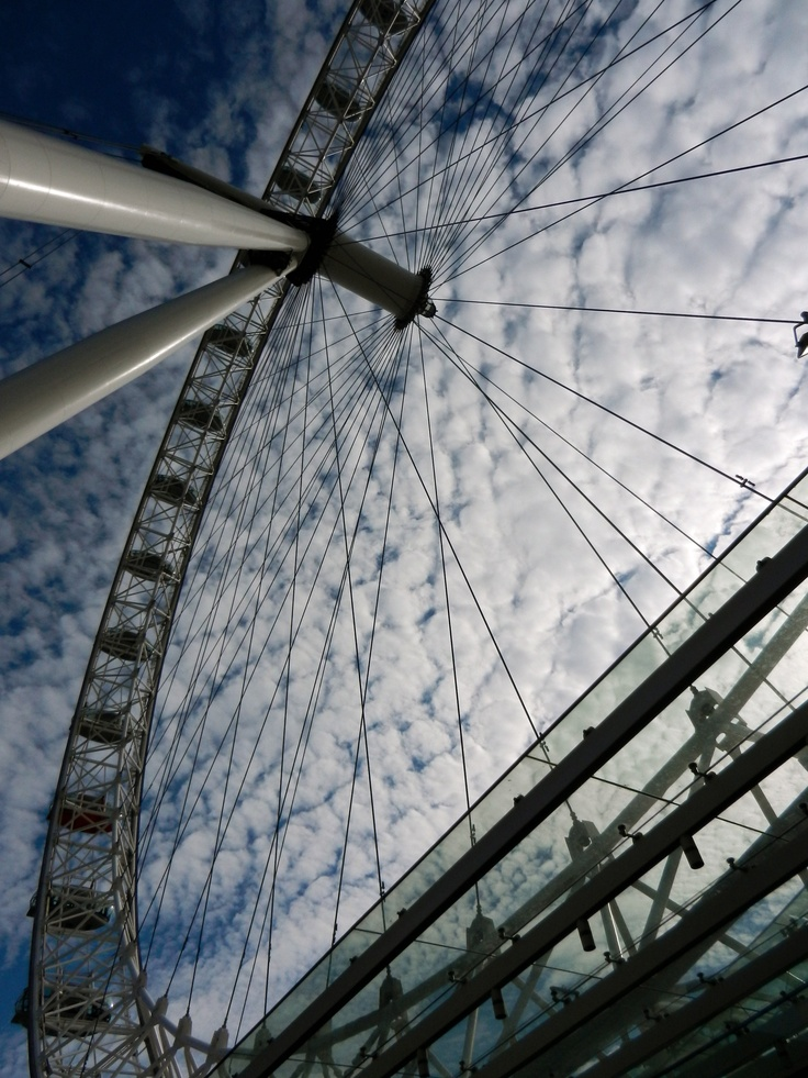 The London Eye offers a whole new view of the city - well worth the long wait!