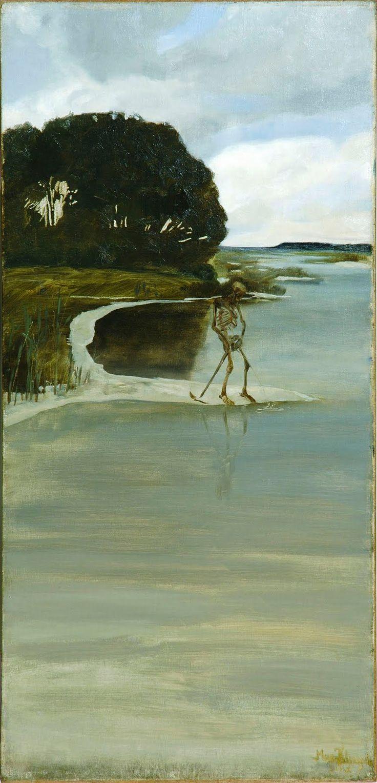Max Klinger, Peeing Death (Der pinkelden Tod) 1880