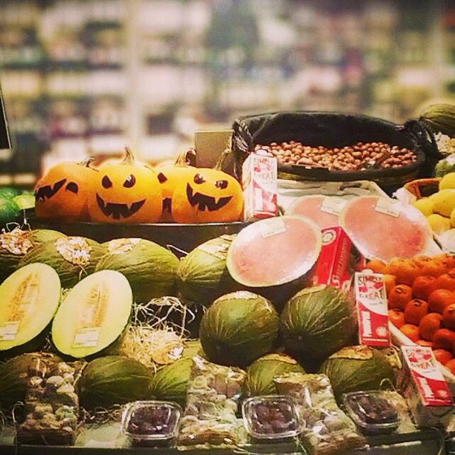 Todo listo para #Halloween en supermercados @SanchezRomero, Zielo Shopping Pozuelo.  #Zielo