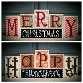 Happy Thanksgiving / Merry Christmas Custom Reversible by BLOCKERZ