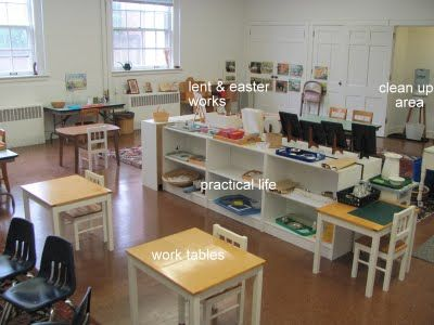 This is Leslie's GCS atrium. What struck me were the tables for *individual* work!