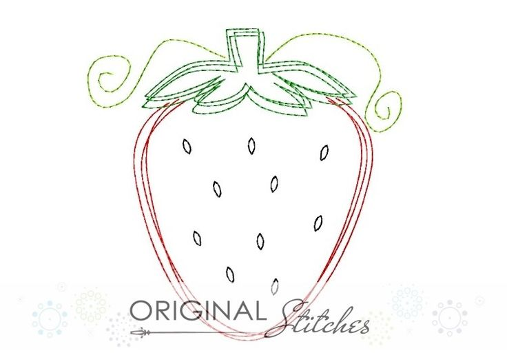 Strawberry - Quick Stitch, Machine Embroidery and Applique Designs Downloads | Original Stitches - Embroidery and Applique Design Store