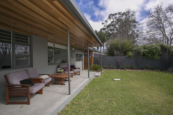 New Verandah with Cedar Lining to Ceiling...After Renovation