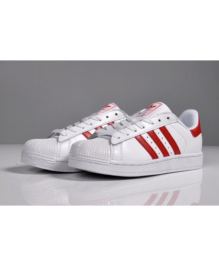 best sneakers 49256 47b17 Adidas Superstar Mens Traniers In Red And White On Sale ...