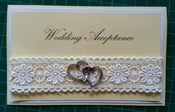 Hand made card - wedding acceptance