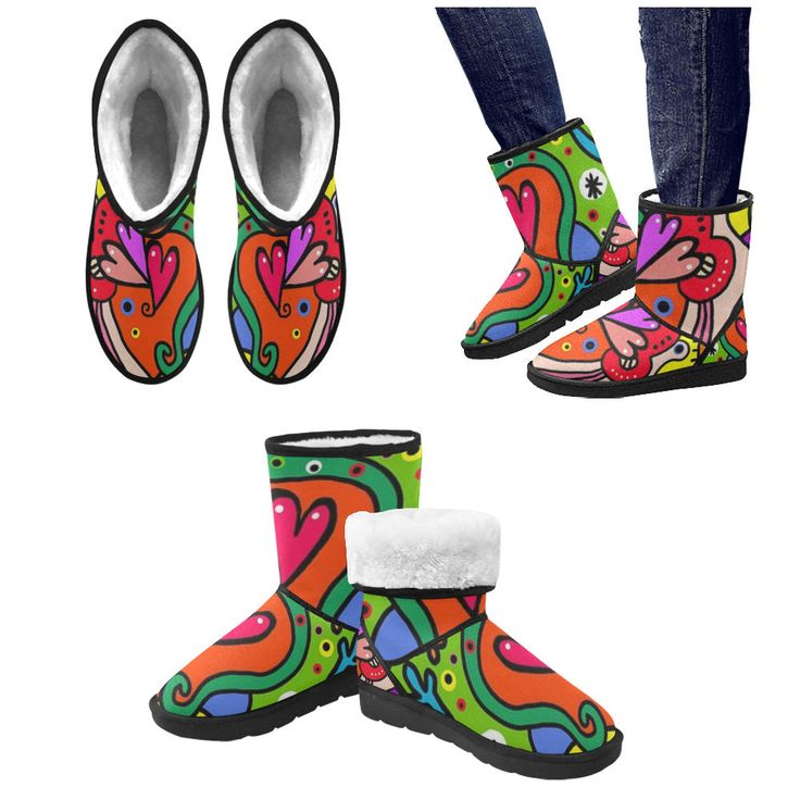 Bright women boots. by bloodybritishclobber on Etsy