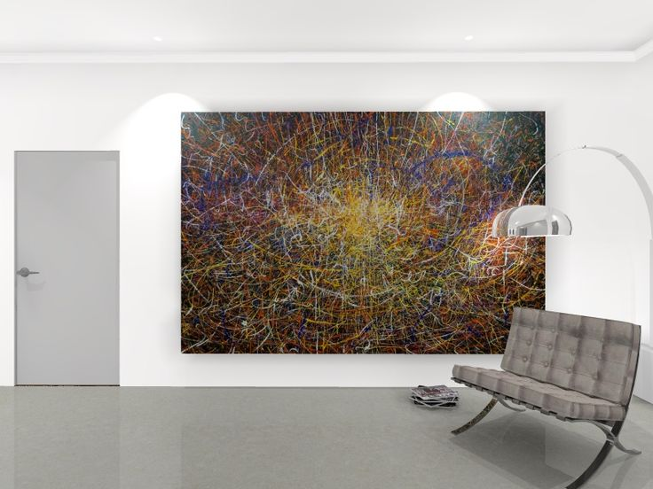 Extra Large Abstract Paintings For Sale | Particle Accelerator by James de…