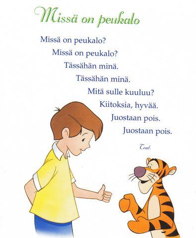 Lauluja ja loruja (esim. viikonpäivät, kuukaudet..)
