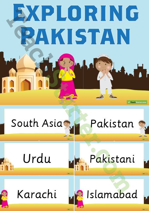 Exploring Pakistan Word Wall Teaching Resource