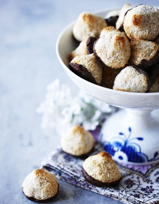 Med en meget lille arbejdsindsat får du fantastisk lækre kokosmakroner!