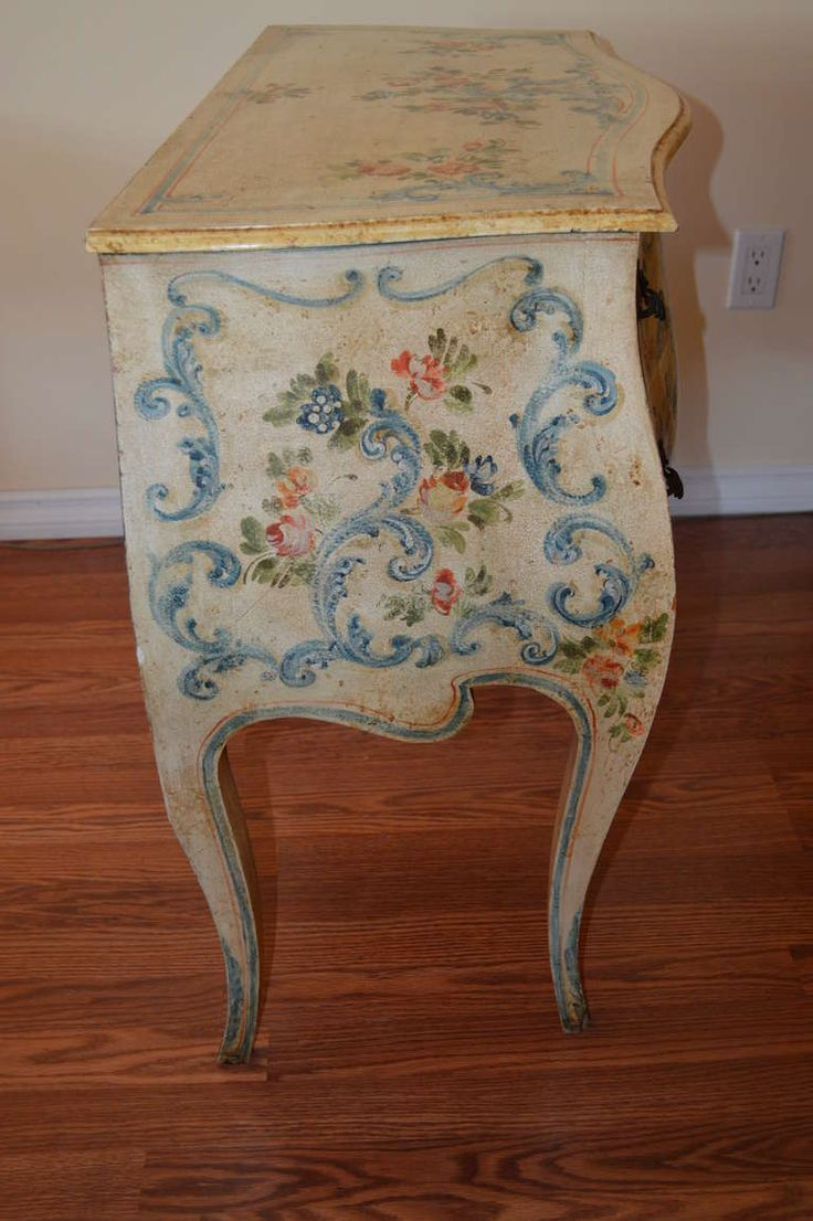 Louis XV Style Hand Painted Commode image 5