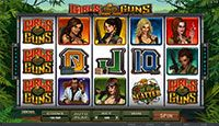 Girls with Guns, you heard right, but here you play online at Royal Vegas Casino #casino #play games online #Royal Vegas