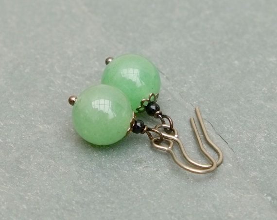 Aventurine earrings.  by BijoubeadsLondon