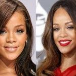 Rihanna's new nose and breasts seem to be serving her very well!