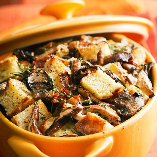 Savory Rosemary Bread Pudding Recipe — Dishmaps