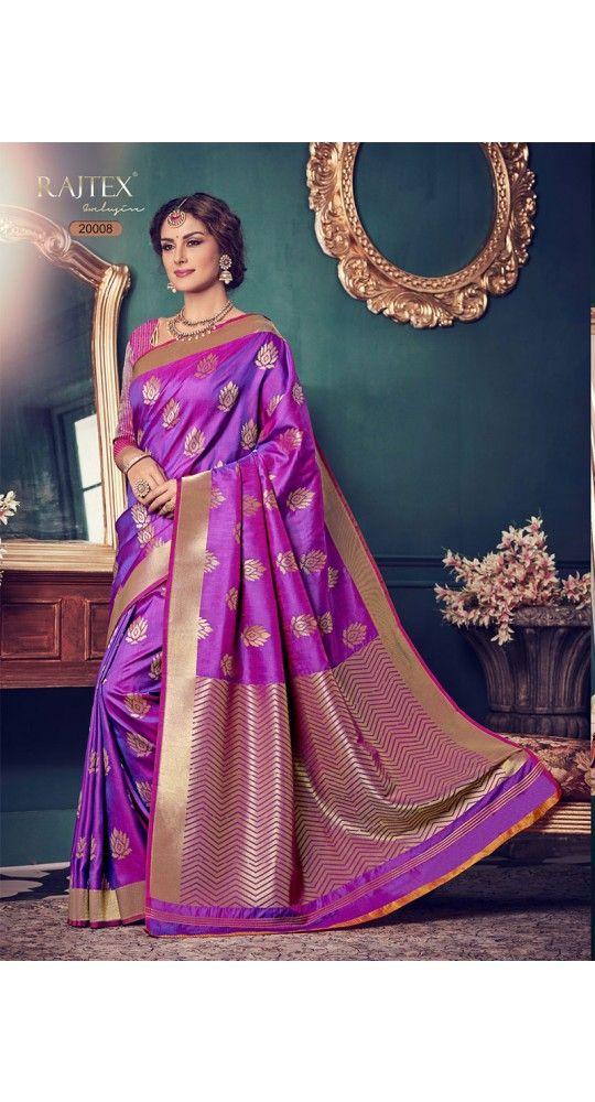 Designer Purple Color Kanjiwaram Saree for Every Occasion, Party, Wedding,Mahendi, Sangeet
