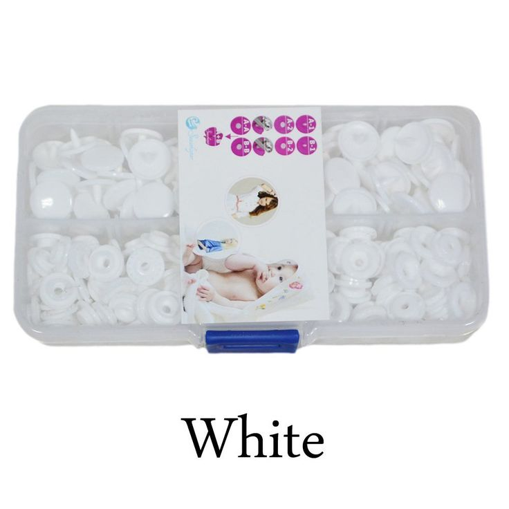 Seawhisper Starter Pack of 50 Complete Snaps/T5 Plastic Snap Fasteners Sets for Sewing Cloth Diaper/Bibs/Unpaper Towels/Nappies/Buttons/Mama Pads - A54 White ** Read more at the image link.