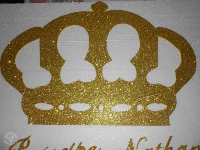 Coroa em eva com glitter