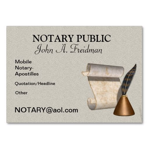 25 best notary public business cards images on pinterest business professional notary public business card reheart Choice Image