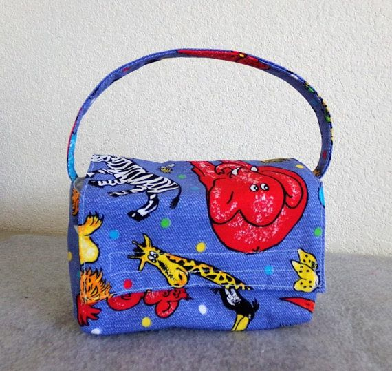 Kid's Insulated Lunch Bag Zoo Animals