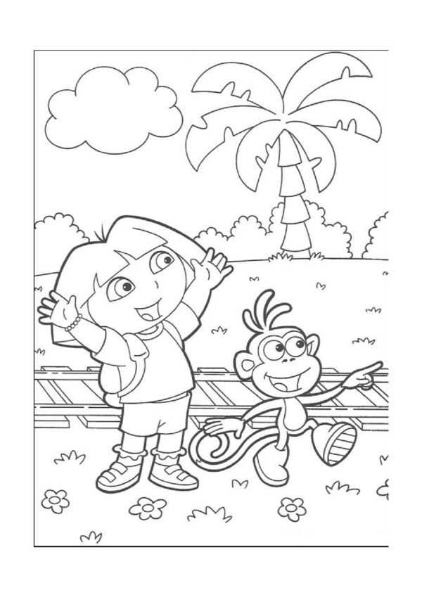 Dora Explorer Tegninger til Farvelægning. Printbare Farvelægning for børn. Tegninger til udskriv og farve nº 5