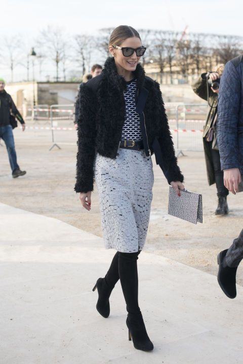 Olivia Palermo arriving at an event in Paris. See all of the model's best looks.