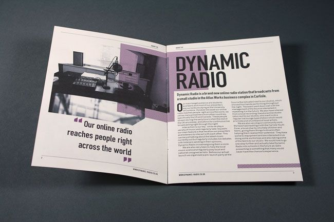 Dynamic Radio Advertising Booklet // Spread 1 / design layout typography