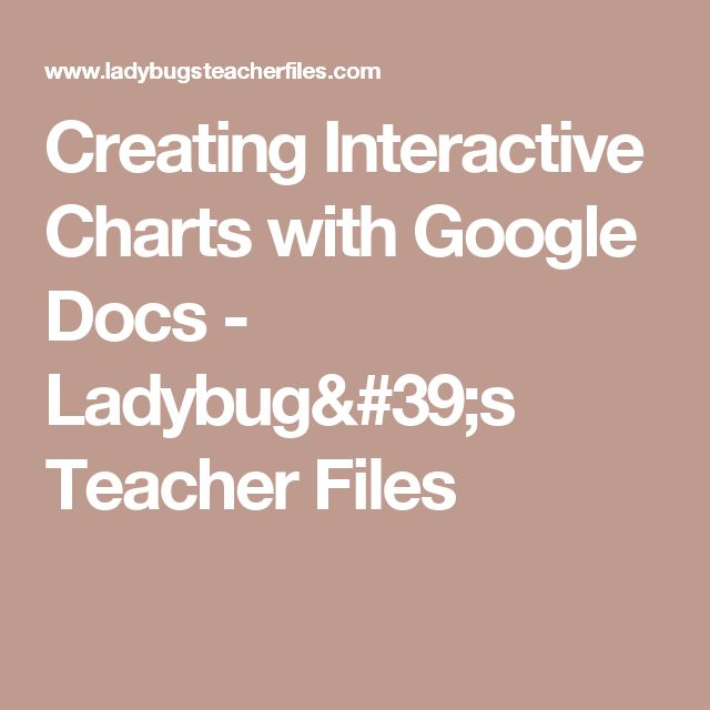 Creating Interactive Charts with Google Docs - Ladybug's Teacher Files